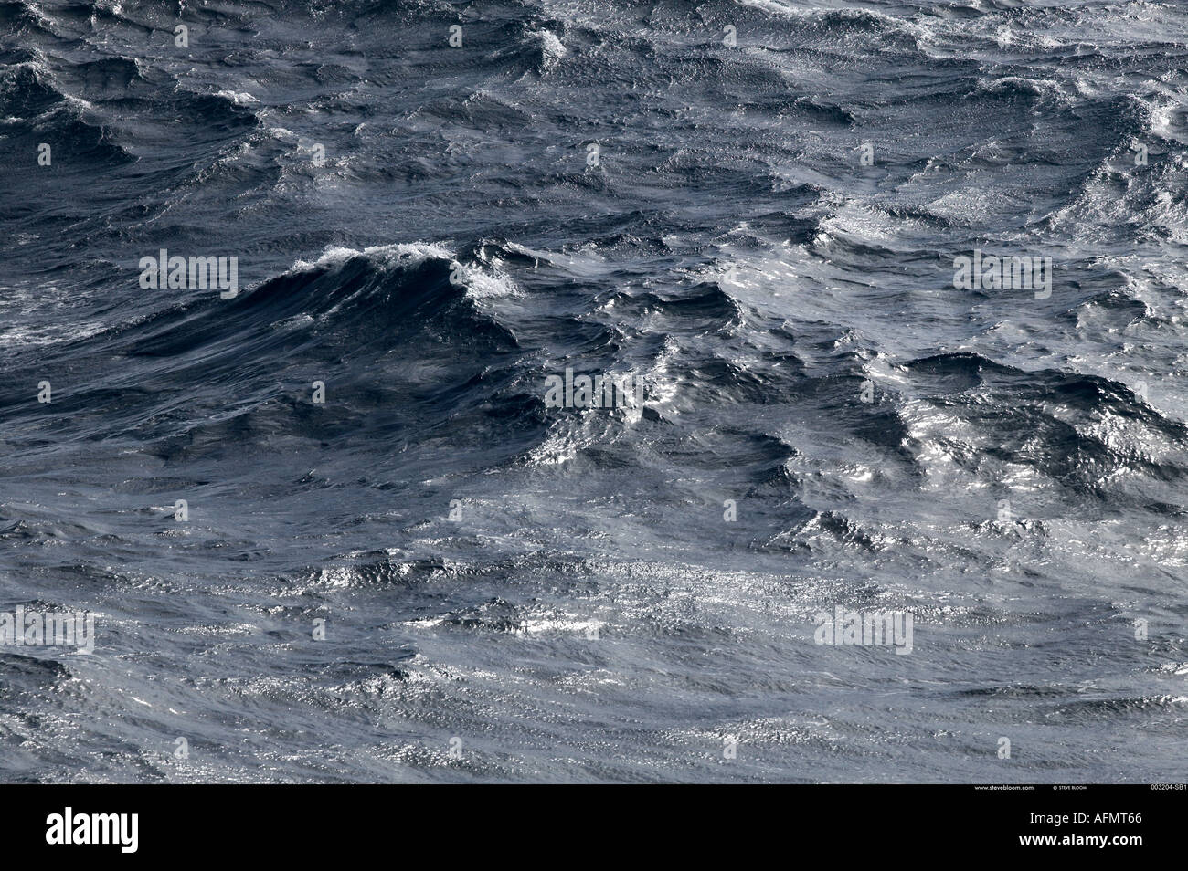 Grey waters of the Southern Ocean - Stock Image