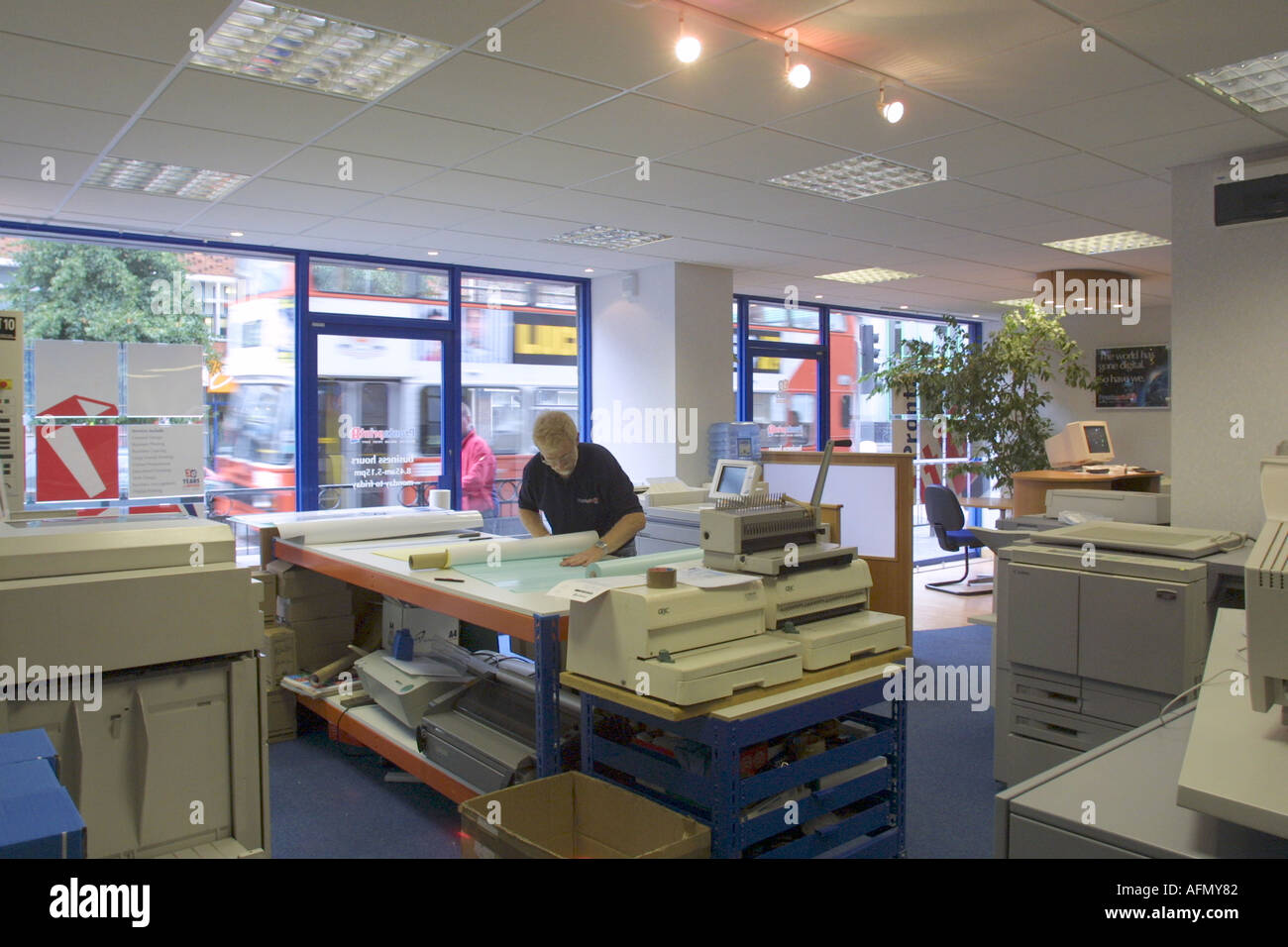 High street printing and repro shop - Stock Image