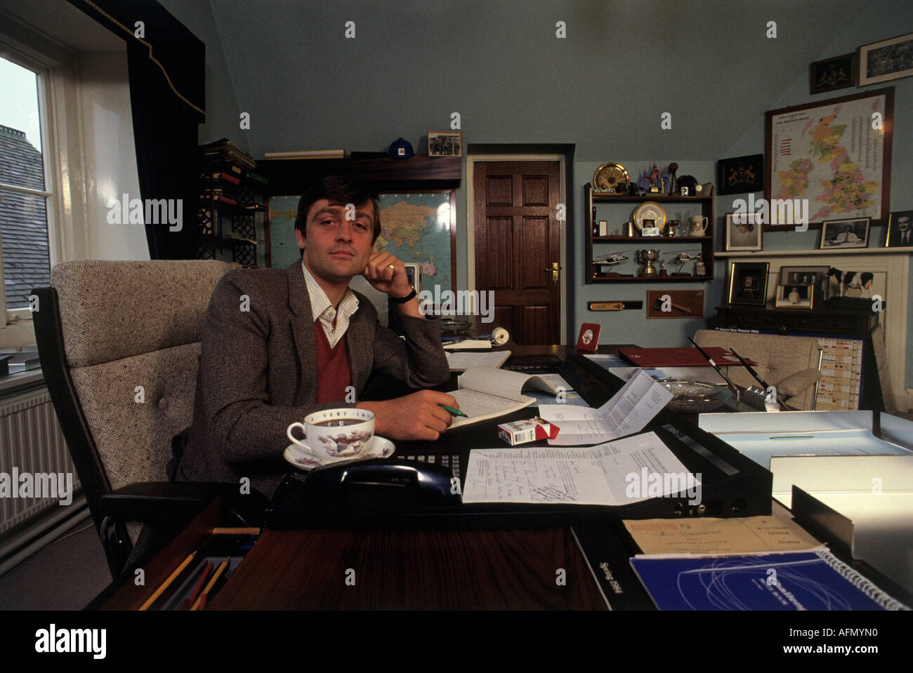 DUKE OF WESTMINSTER English aristocrat and property owner about 1990 - Stock Image