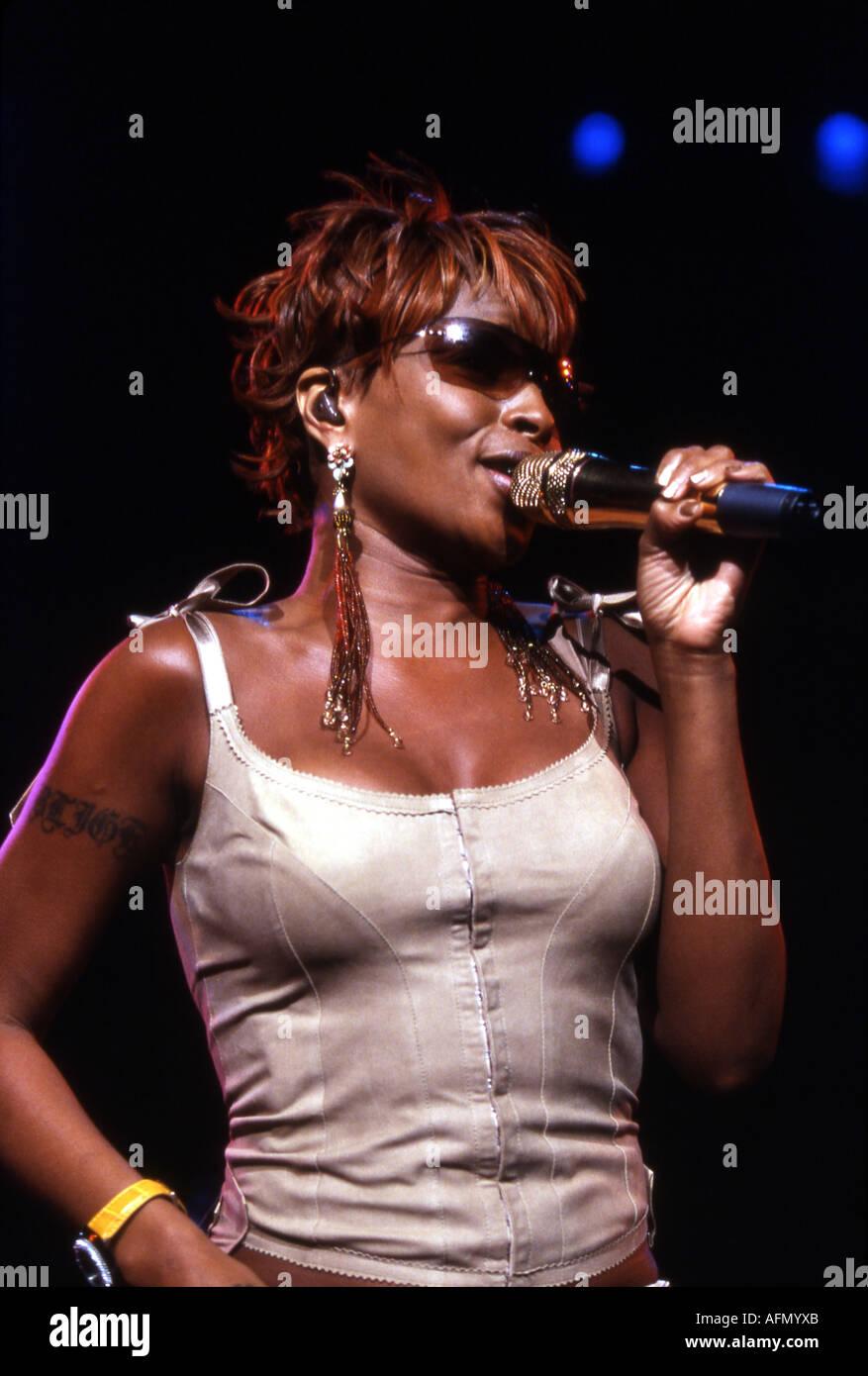 MARY J BLIGE US singer - Stock Image