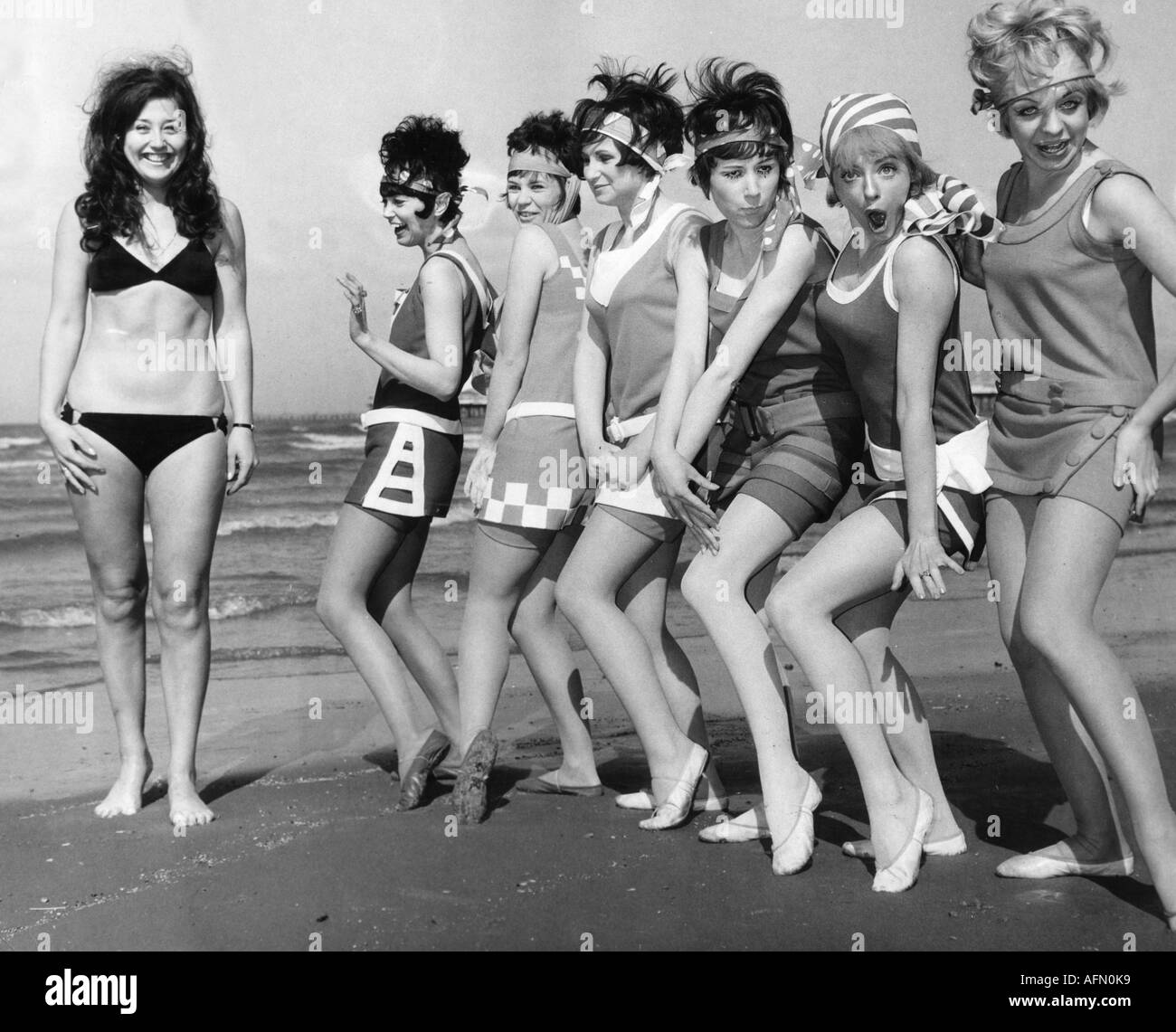 fashion women in beachwear 1960s 60s stock photo 7990584 alamy
