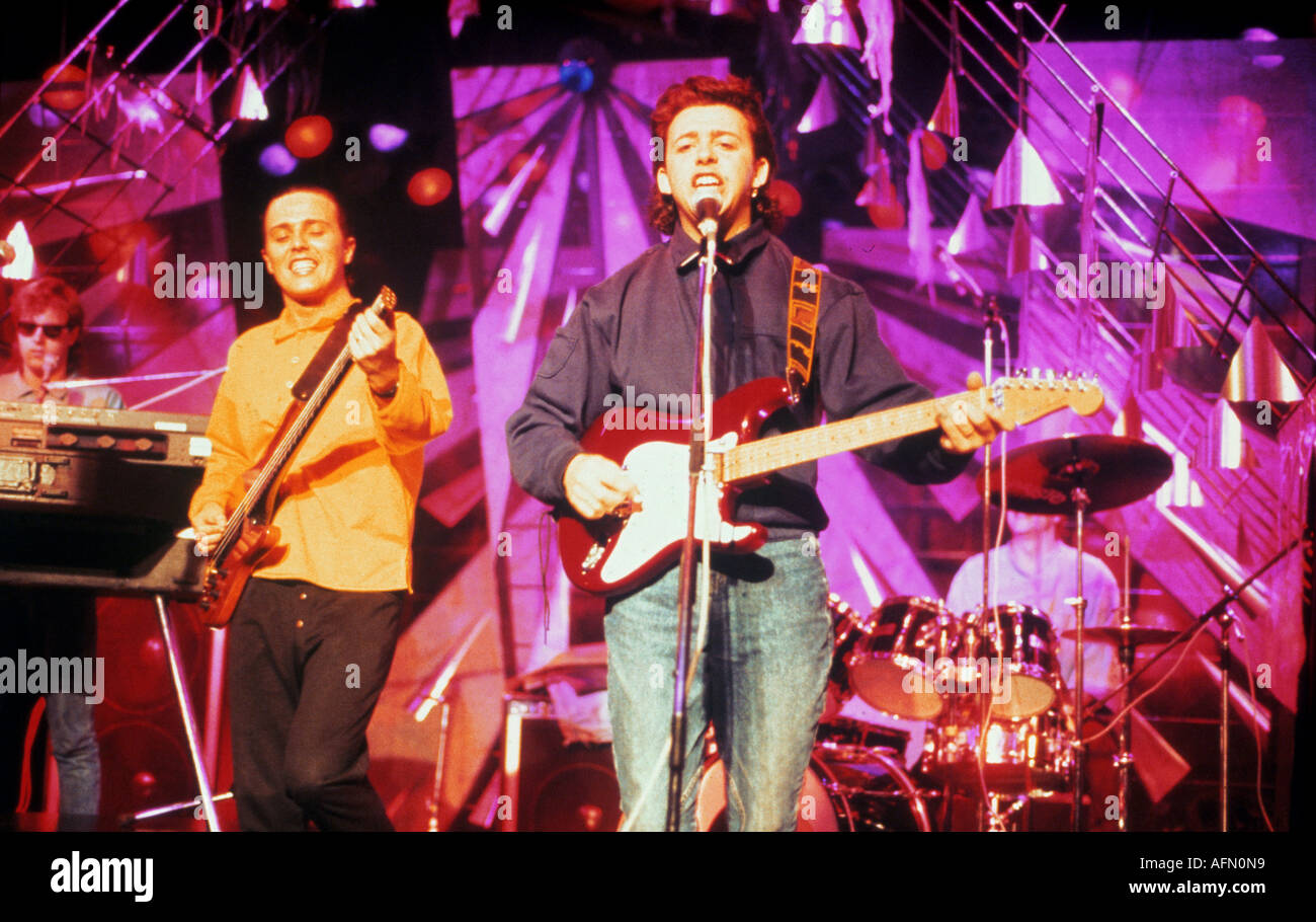 TEARS FOR FEARS UK pop group with Curt Smith at left and Roland Orzabal - Stock Image