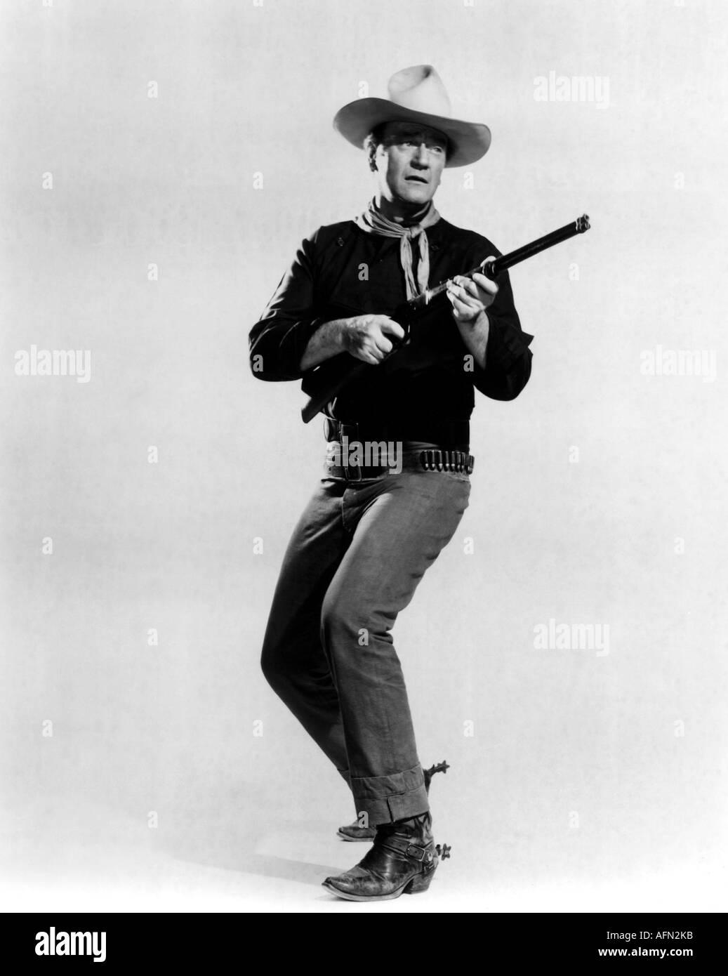 JOHN WAYNE in The Man Who Shot Liberty Valance - Stock Image