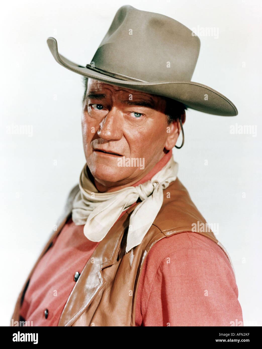 JOHN WAYNE US actor - Stock Image