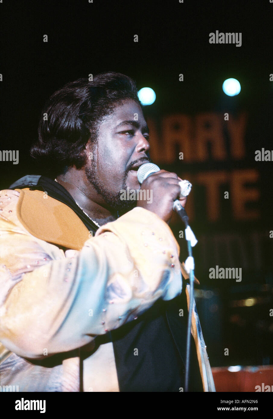 BARRY WHITE US soul singer - Stock Image