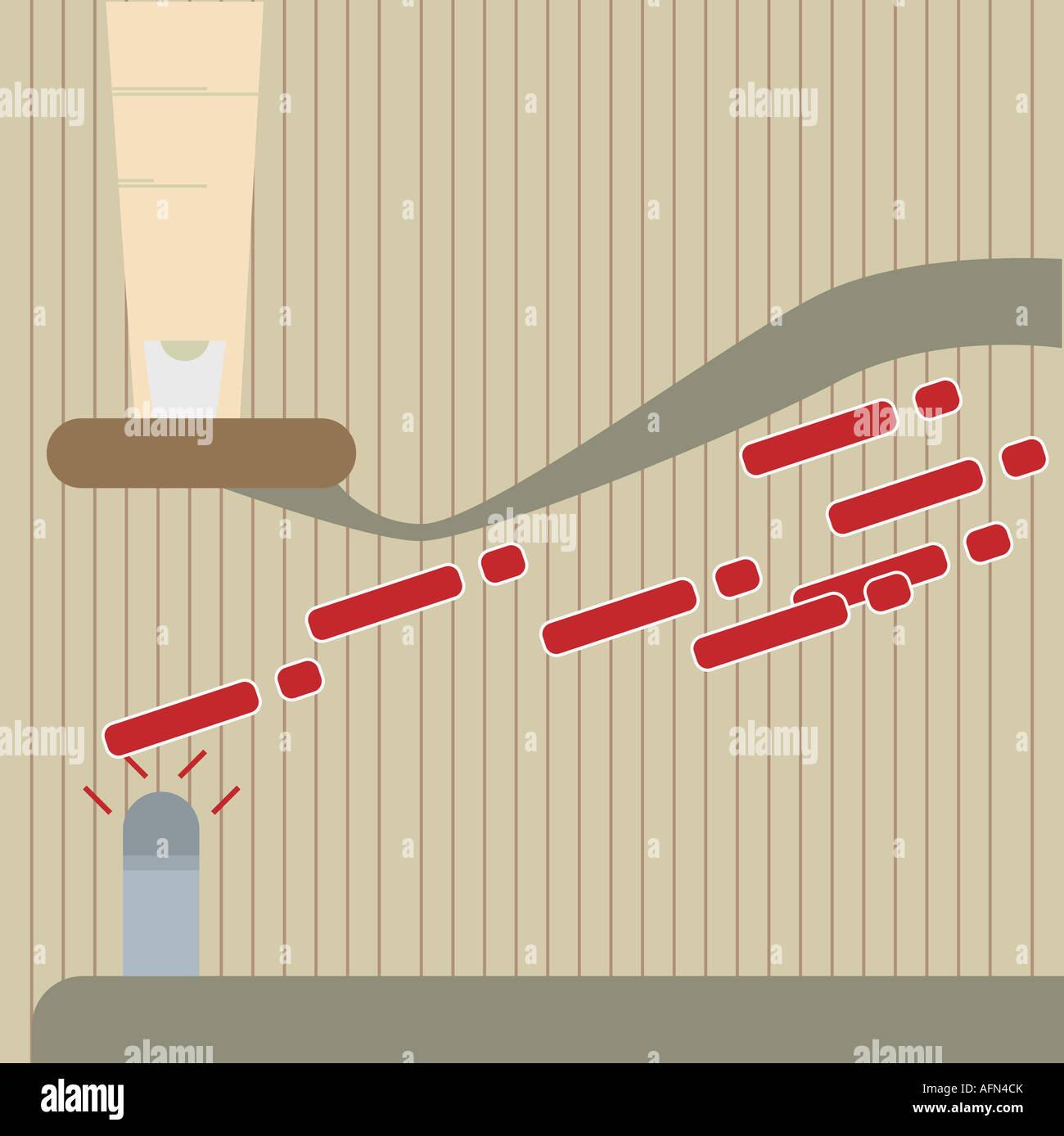 Morse code key finger stock photos morse code key finger stock finger clicking on a telegraph key stock image asfbconference2016 Choice Image