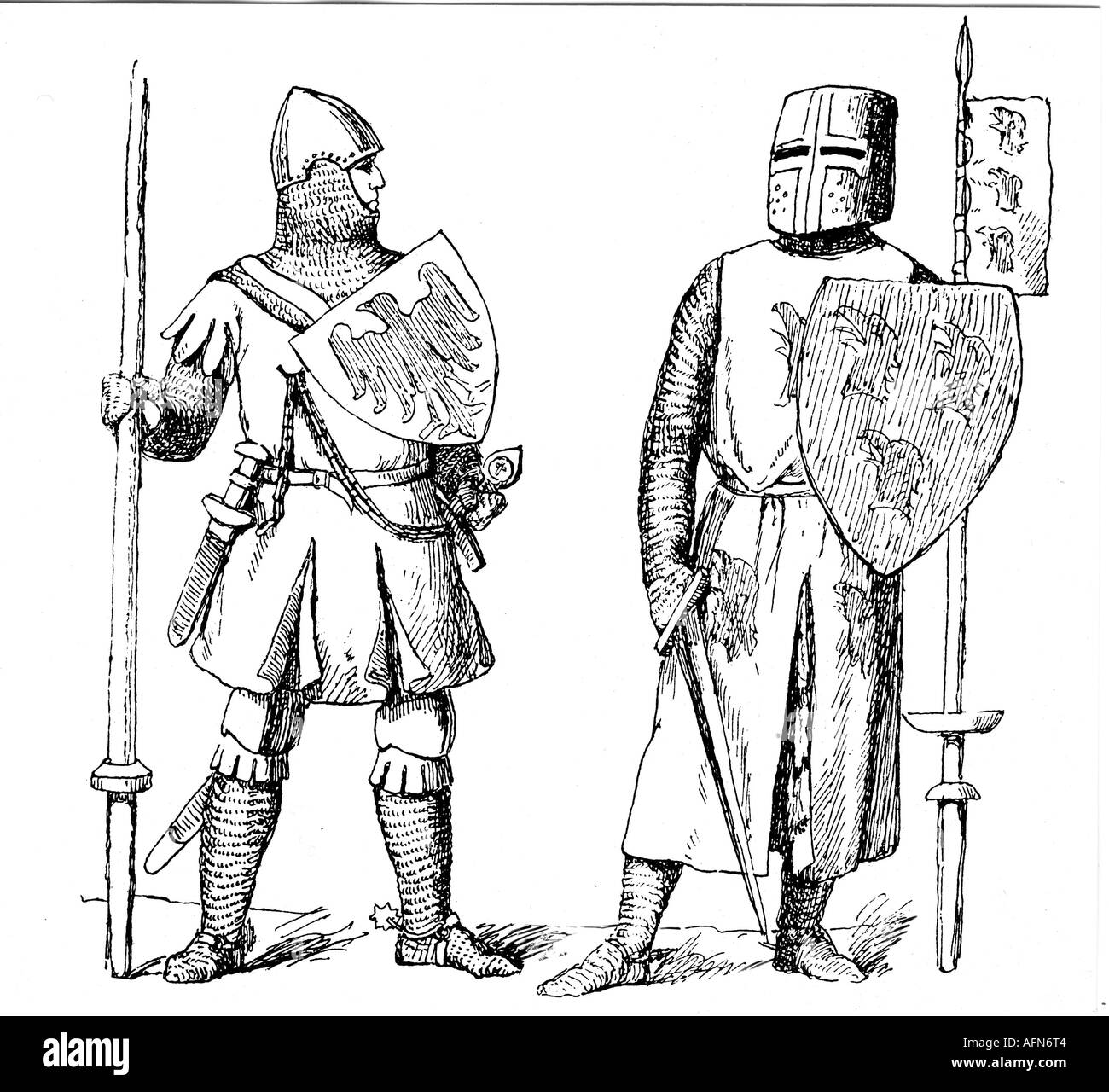 medieval knights black and white stock photos images alamy