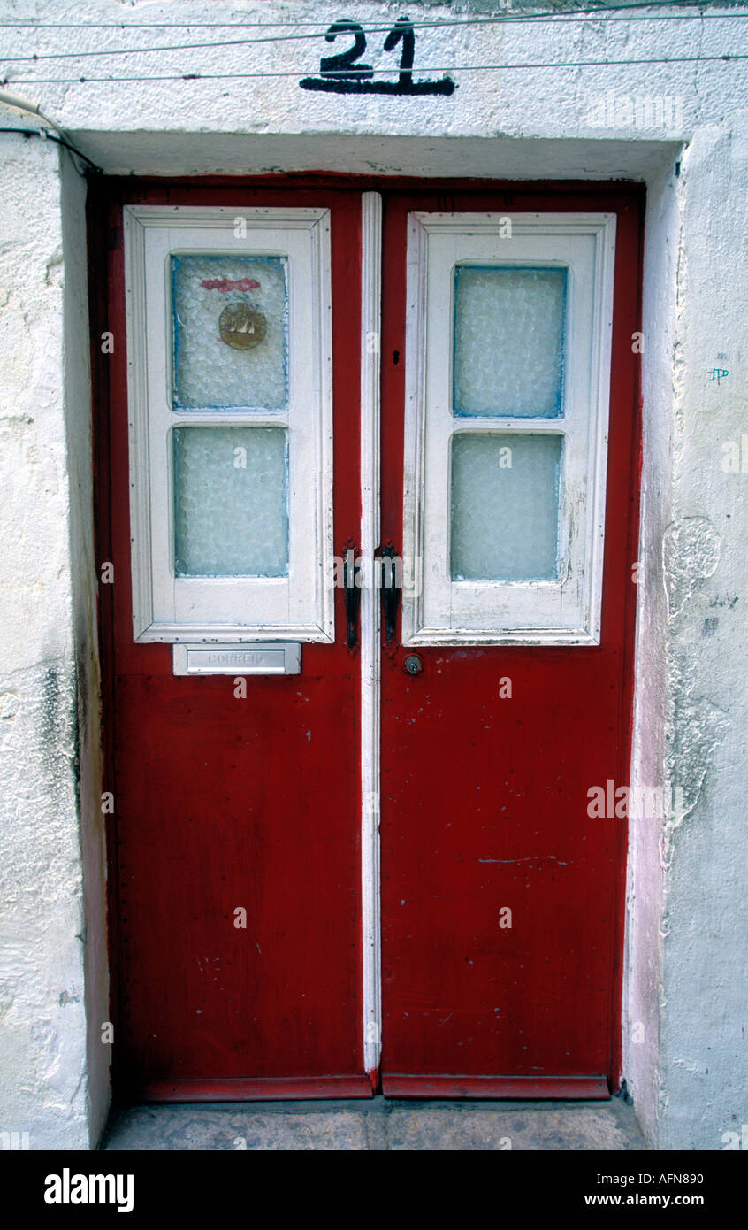Portugal Lisbon Doorframe in Alfama the Moorish quarter - Stock Image