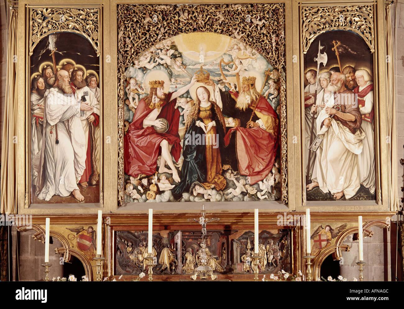 'fine arts, Baldung, Hans called Grien, (1484 / 1485 - 1545), painting, 'Krönung Mariens', ('coronation of Saint Mary'), 151 - Stock Image