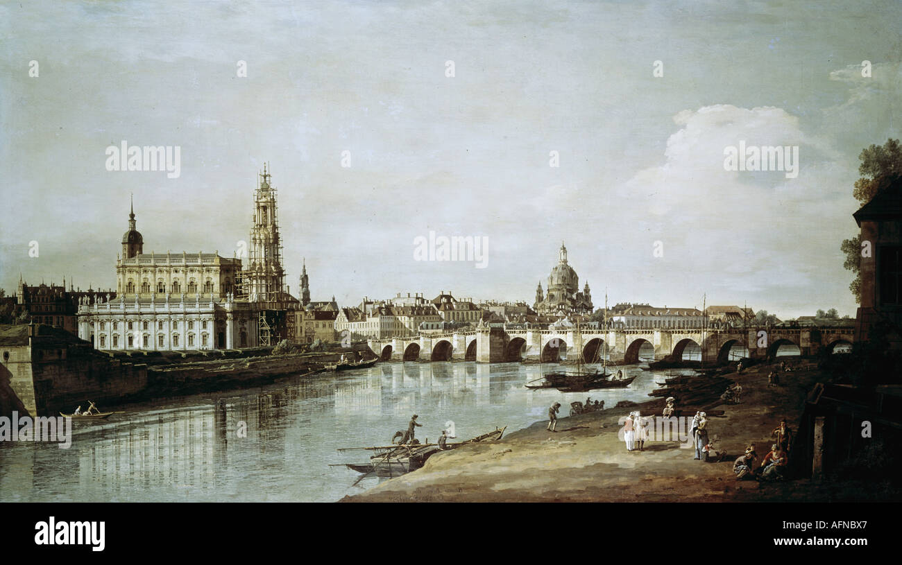 dresden germany canaletto view stock photos dresden germany canaletto view stock images alamy. Black Bedroom Furniture Sets. Home Design Ideas