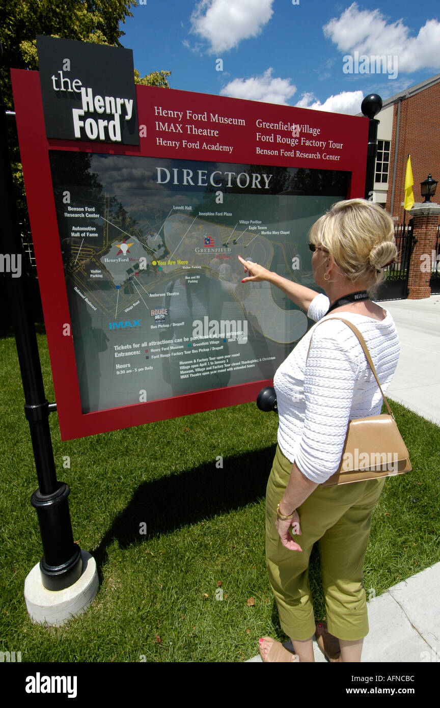Henry Ford Hospital Campus Map.Looking For Directions On A Map At Historic Greenfield Village And