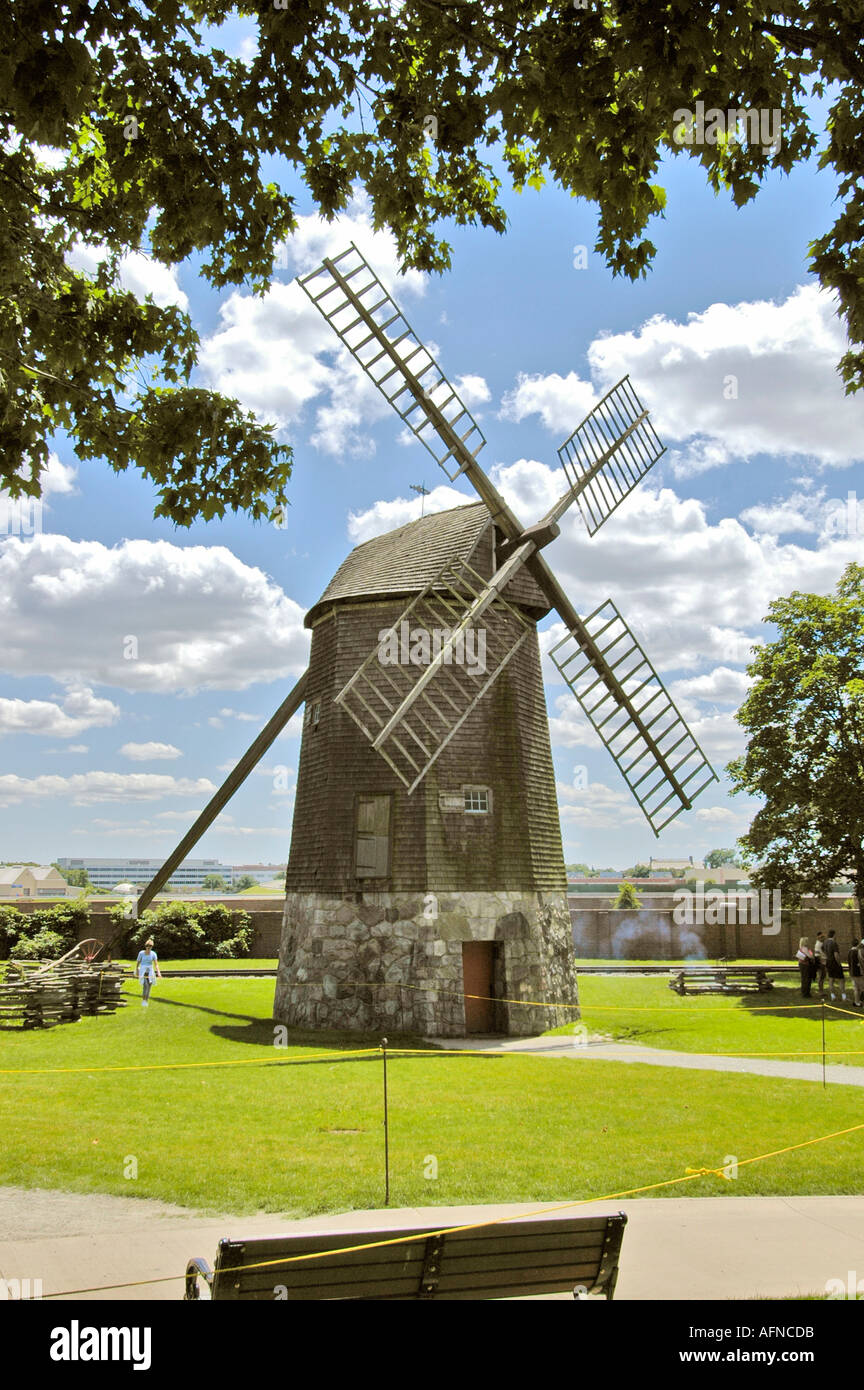 Farris Windmill Historic Greenfield Village and Henry Ford Museum located at Dearborn Michigan - Stock Image