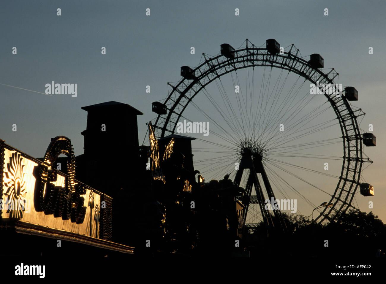 Vienna, Giant Ferry Wheel Stock Photo