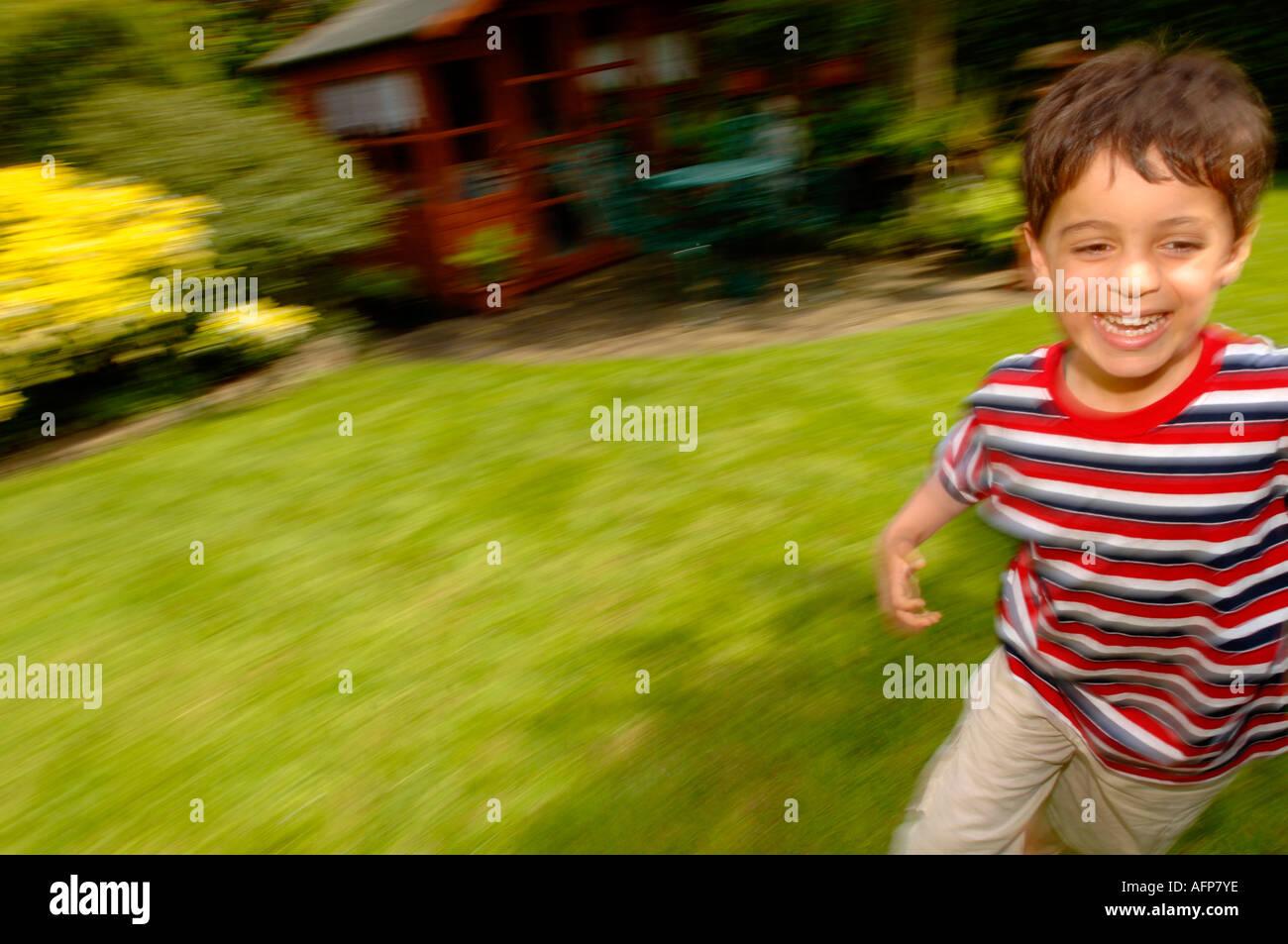 child running - Stock Image