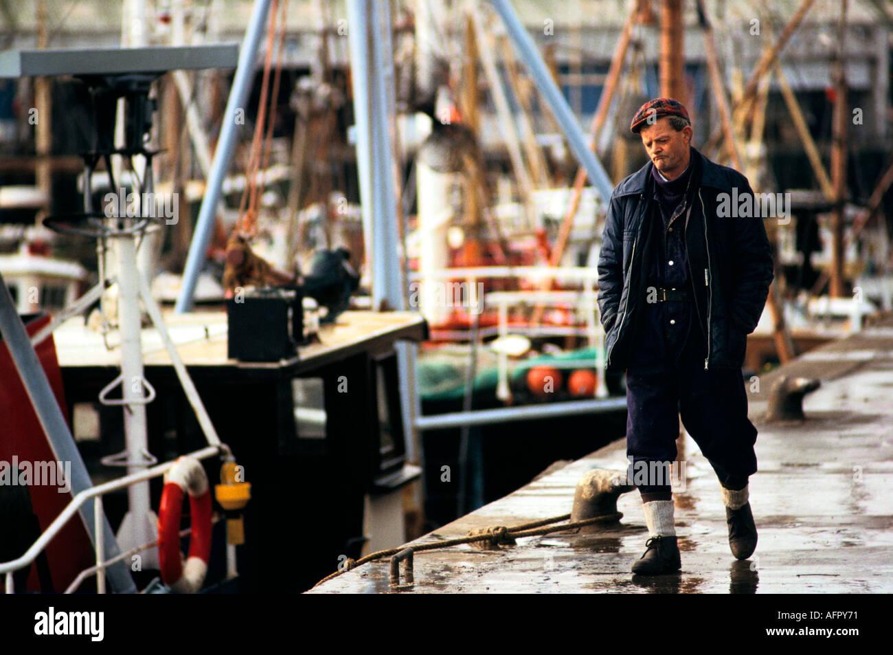 Fleetwood fishing industry Lancashire Circa 1985 PHOTO HOMER SYKES - Stock Image