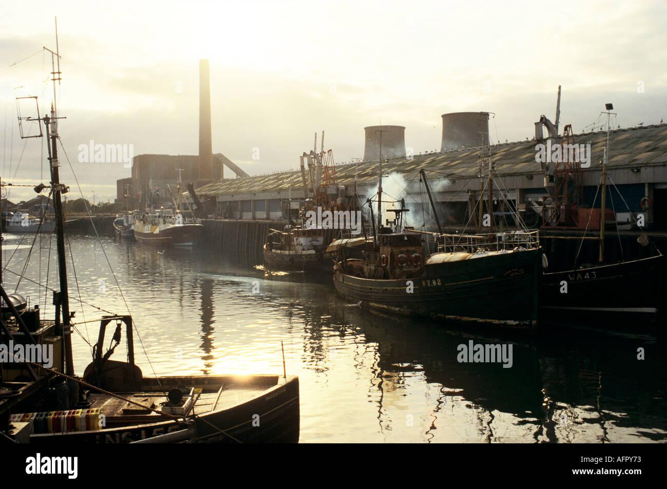 Fleetwood fishing industry Lancashire Circa 1985  HOMER SYKES - Stock Image