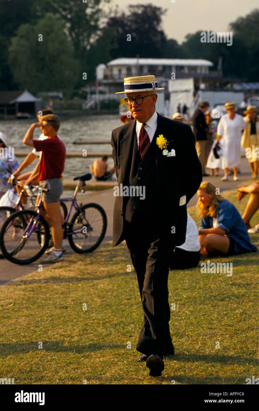 English social season Henley Royal Regatta Henley on Thames  Oxfordshire. England  HOMER SYKES - Stock Image