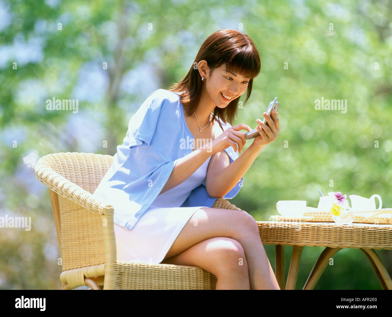 Woman on the Mobile phone - Stock Image