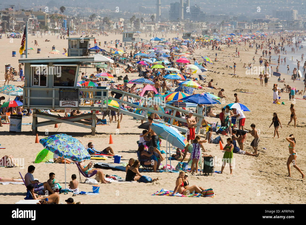 Manhattan Beach Los Angeles County California United States Of Stock Photo Alamy