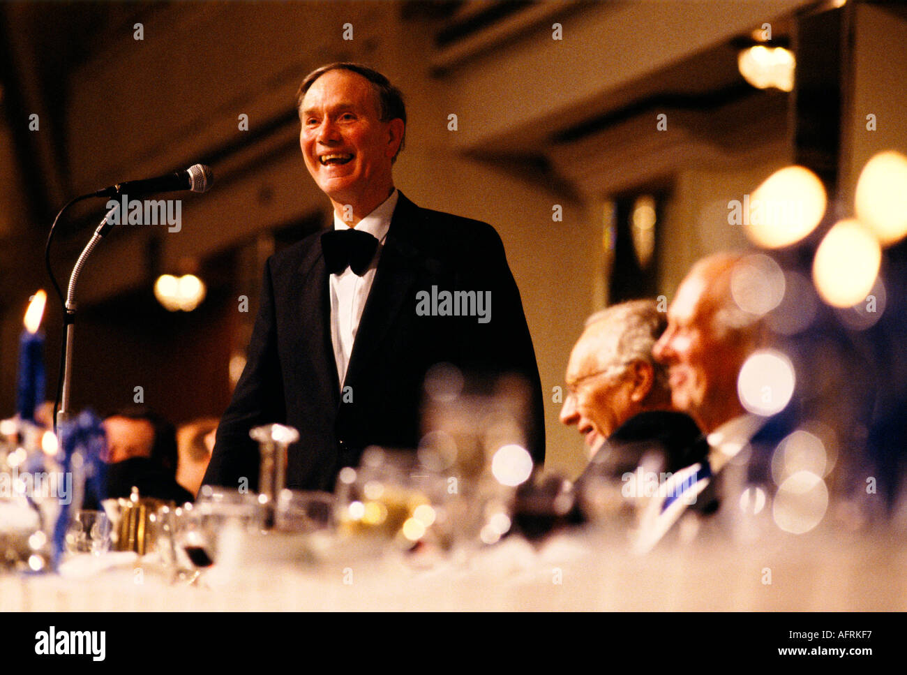 AFTER DINNER SPEAKERS PETER  MALONEY. LONDON PHOTO HOMER SYKES - Stock Image