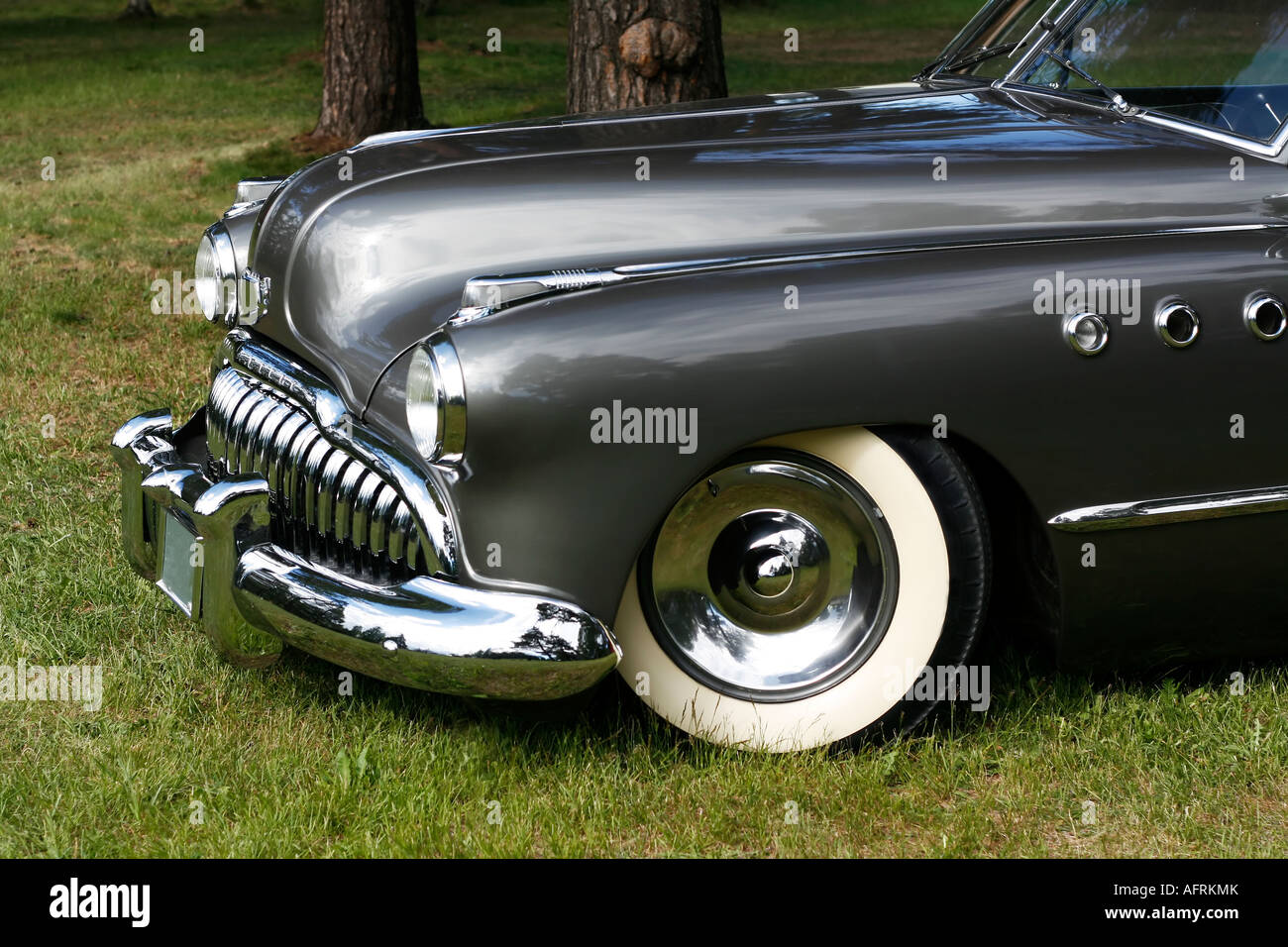 close up of vintage car - Stock Image