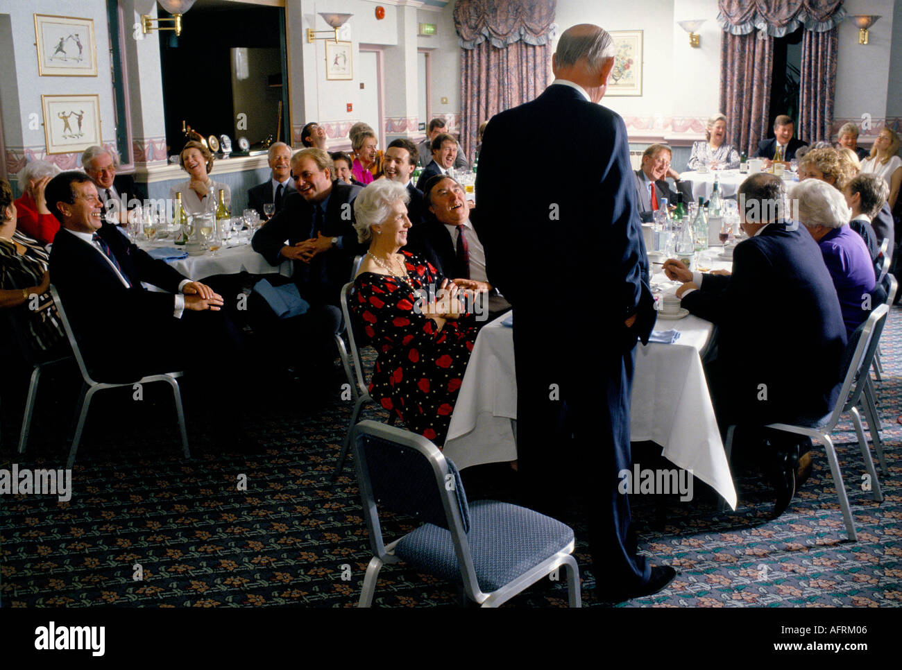 AFTER DINNER SPEAKERS AT THE GEORGE HOTEL GLOUCESTER PHOTO HOMER SYKES - Stock Image