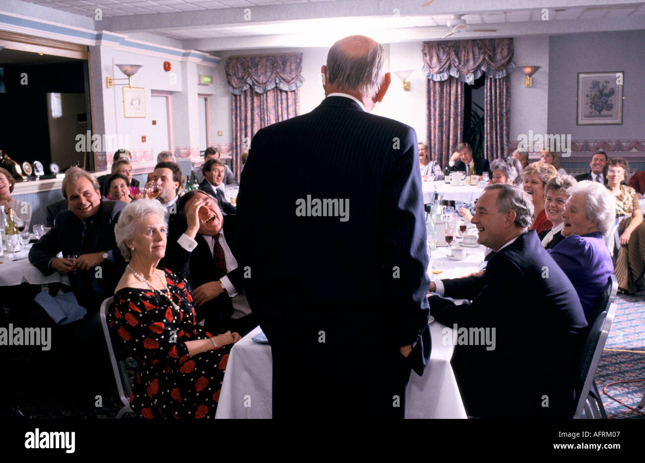 AFTER DINNER SPEAKERS  PHOTO HOMER SYKES - Stock Image