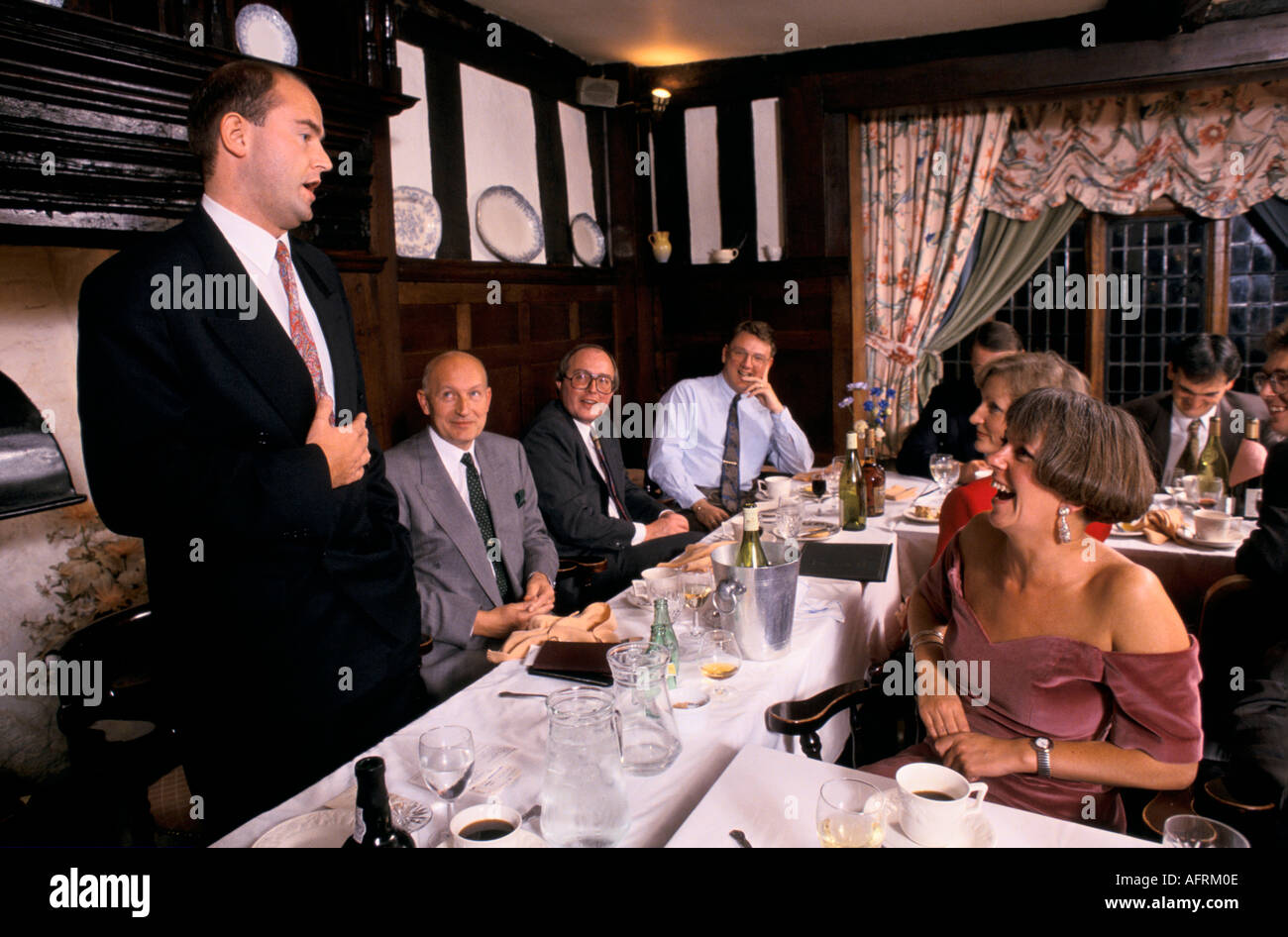 AFTER DINNER SPEAKER,   PHOTO HOMER SYKES - Stock Image