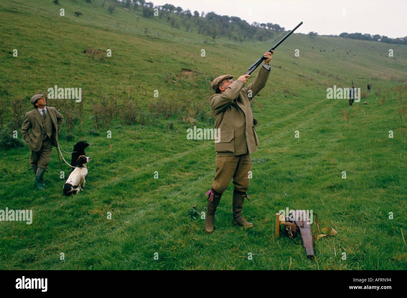 Partridge Shoot Gurston Down Wiltshire England Homer