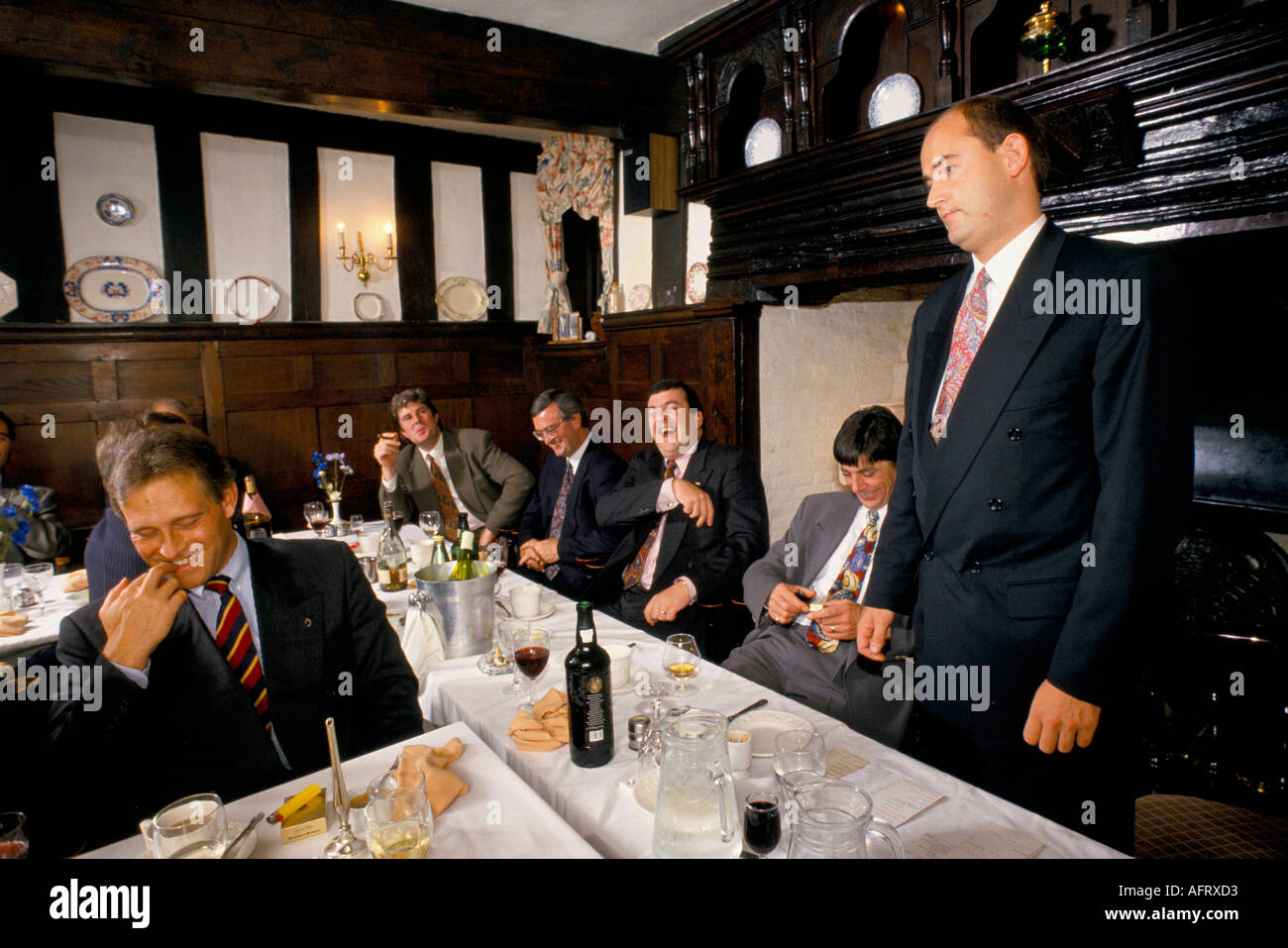 AFTER DINNER SPEAKER,  GRAHAM  DAVIES A  LAWYER FROM  BIRMINGHAM DURING THE DAY. - Stock Image