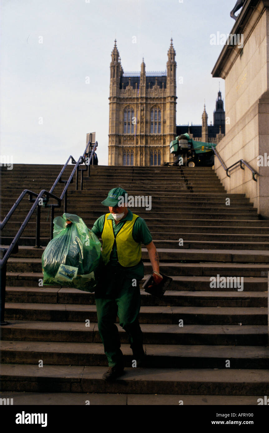 Street cleaner London HOMER SYKES - Stock Image