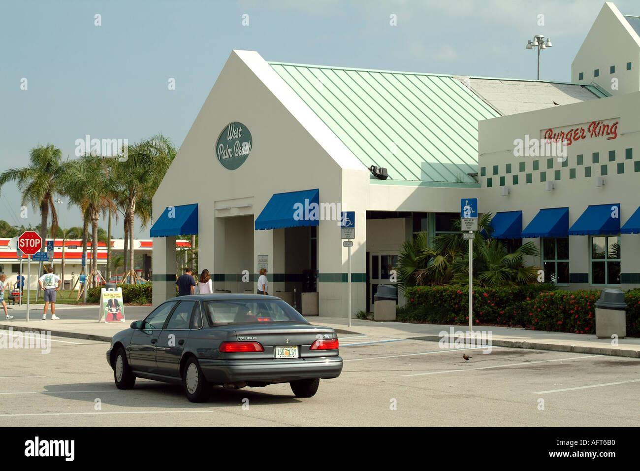 Florida Turnpike Toll Road Plaza Stock Photos & Florida