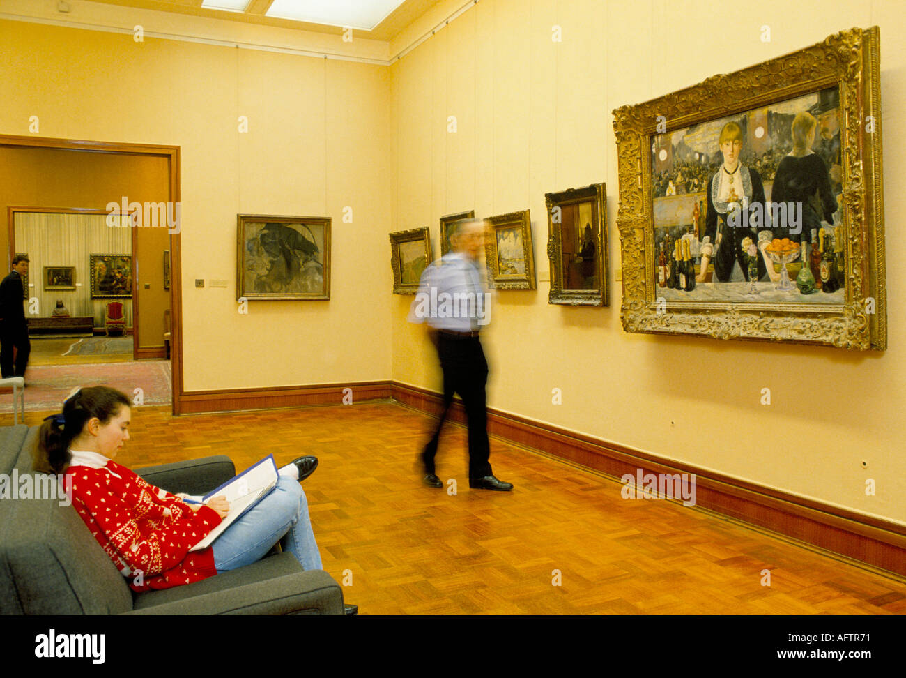 Courtauld art gallery Somerset House London - Stock Image