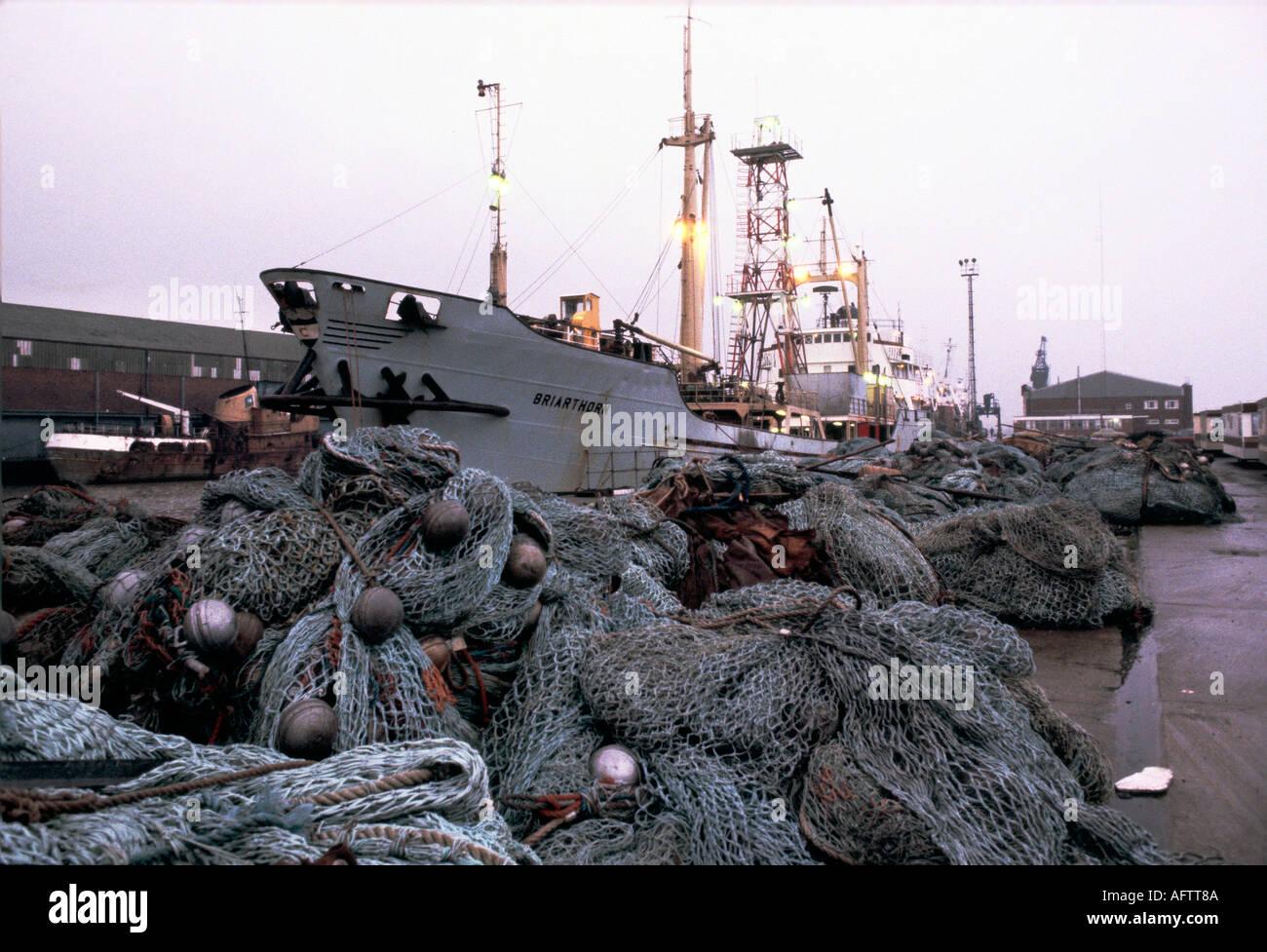 Fleetwood fishing industry Lancashire - Stock Image