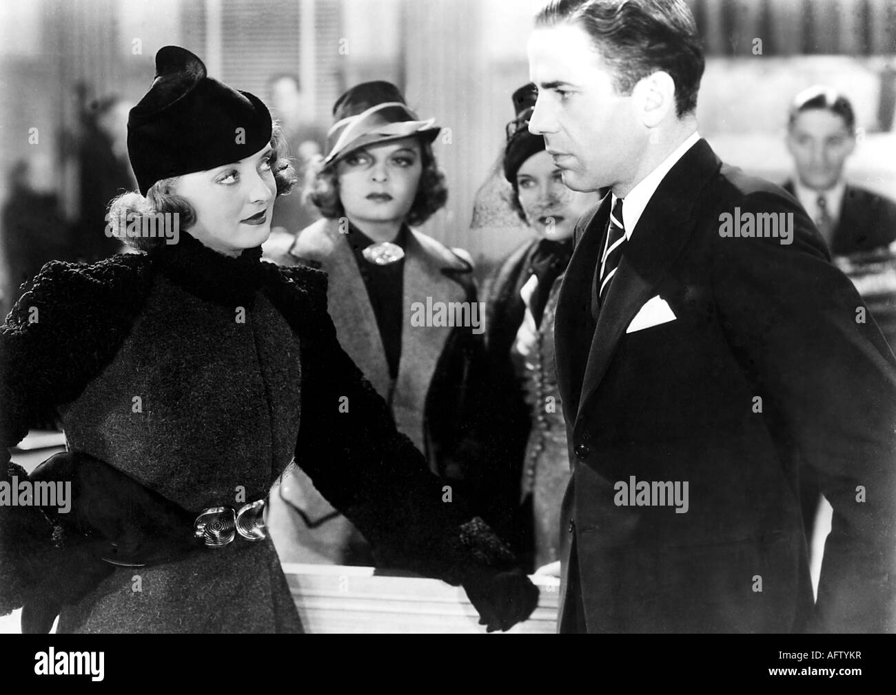 MARKED WOMAN - 1937 Warner film with Bette Davis and Humphrey Bogart - Stock Image