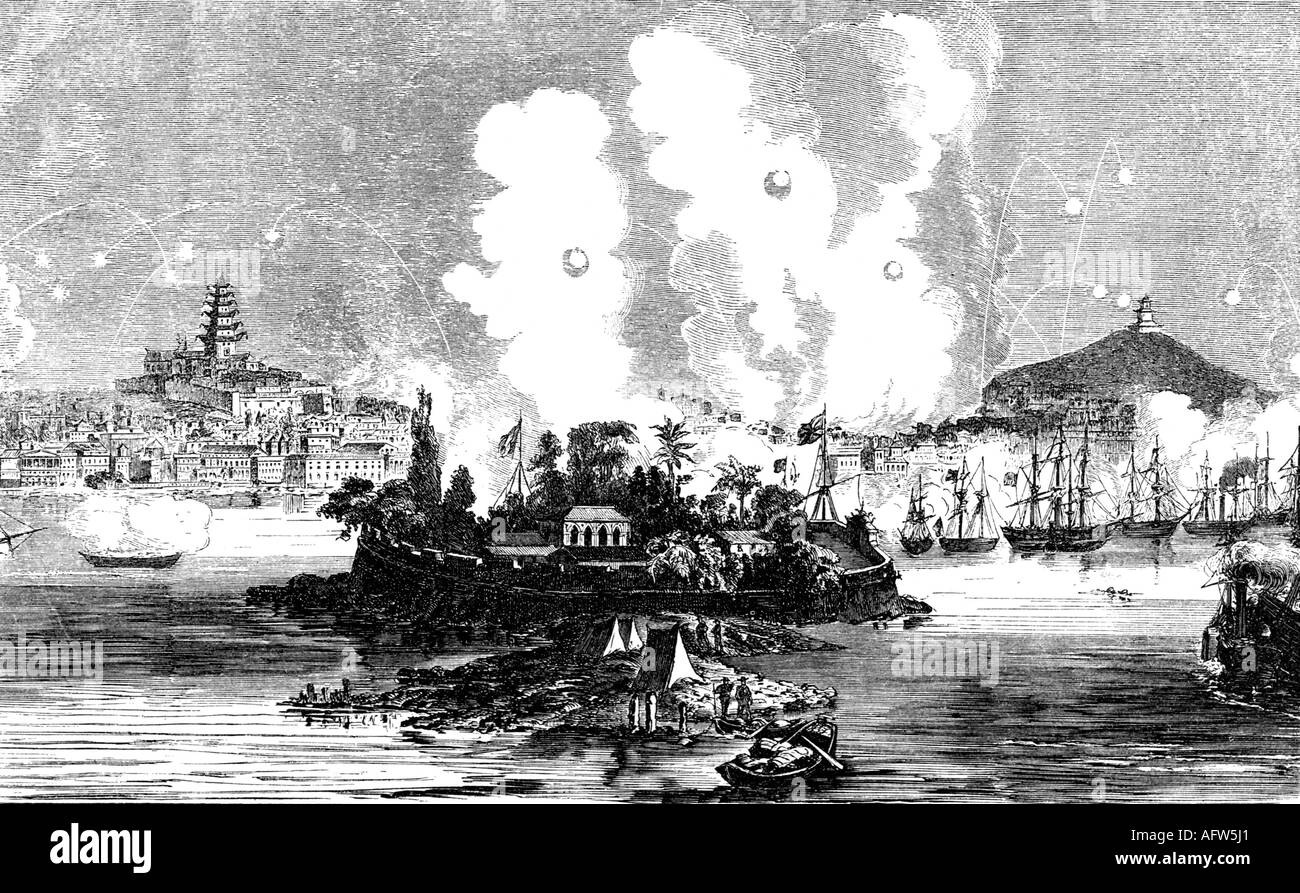 ATTACK ON CANTON BY ALLIED FRENCH AND ENGLISH CHINESE