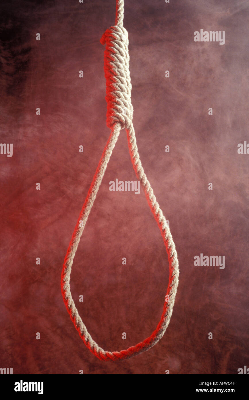 Hangmans noose - Stock Image