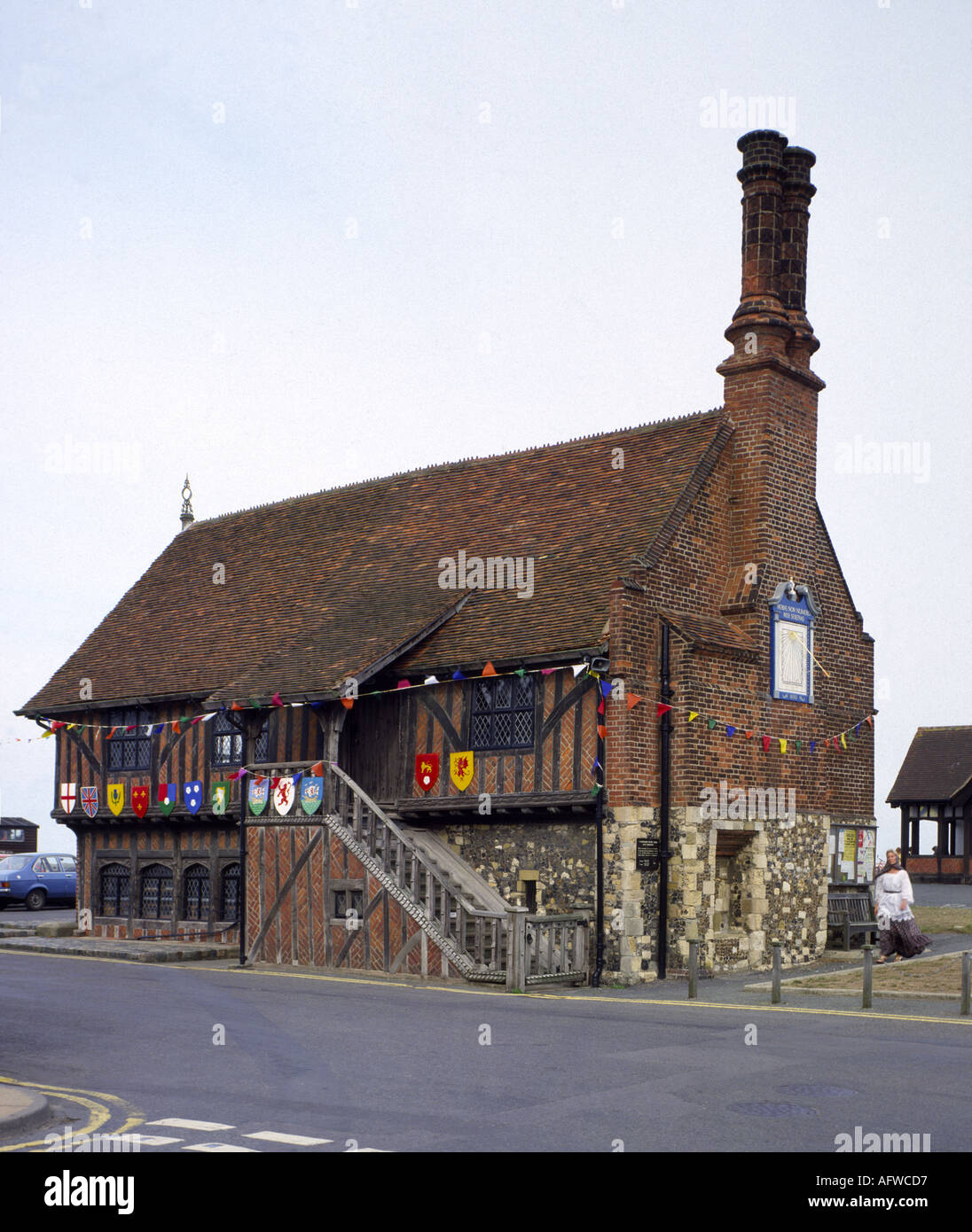 Suffolk Aldeburgh 16th century Moot Hall - Stock Image
