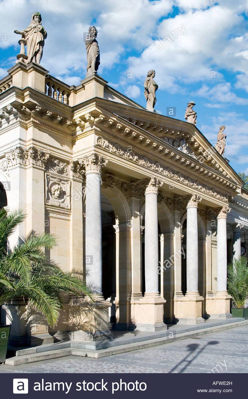 Mlynska kolonada z 1871 (neorenesance, arch. J, Zitek), Karlovy Vary, - Stock Image