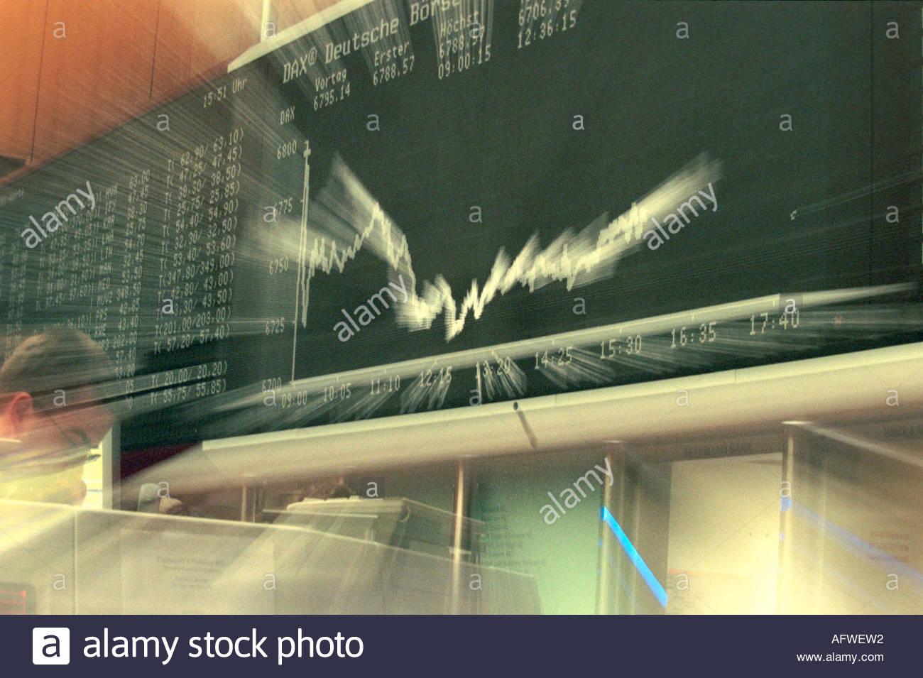 Dax Chart Stock Photo 8014865 Alamy