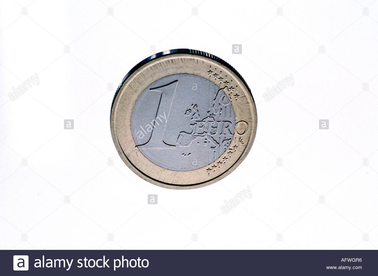 Figure With 1 Euro Coin Cut Out Stock Images Pictures Alamy