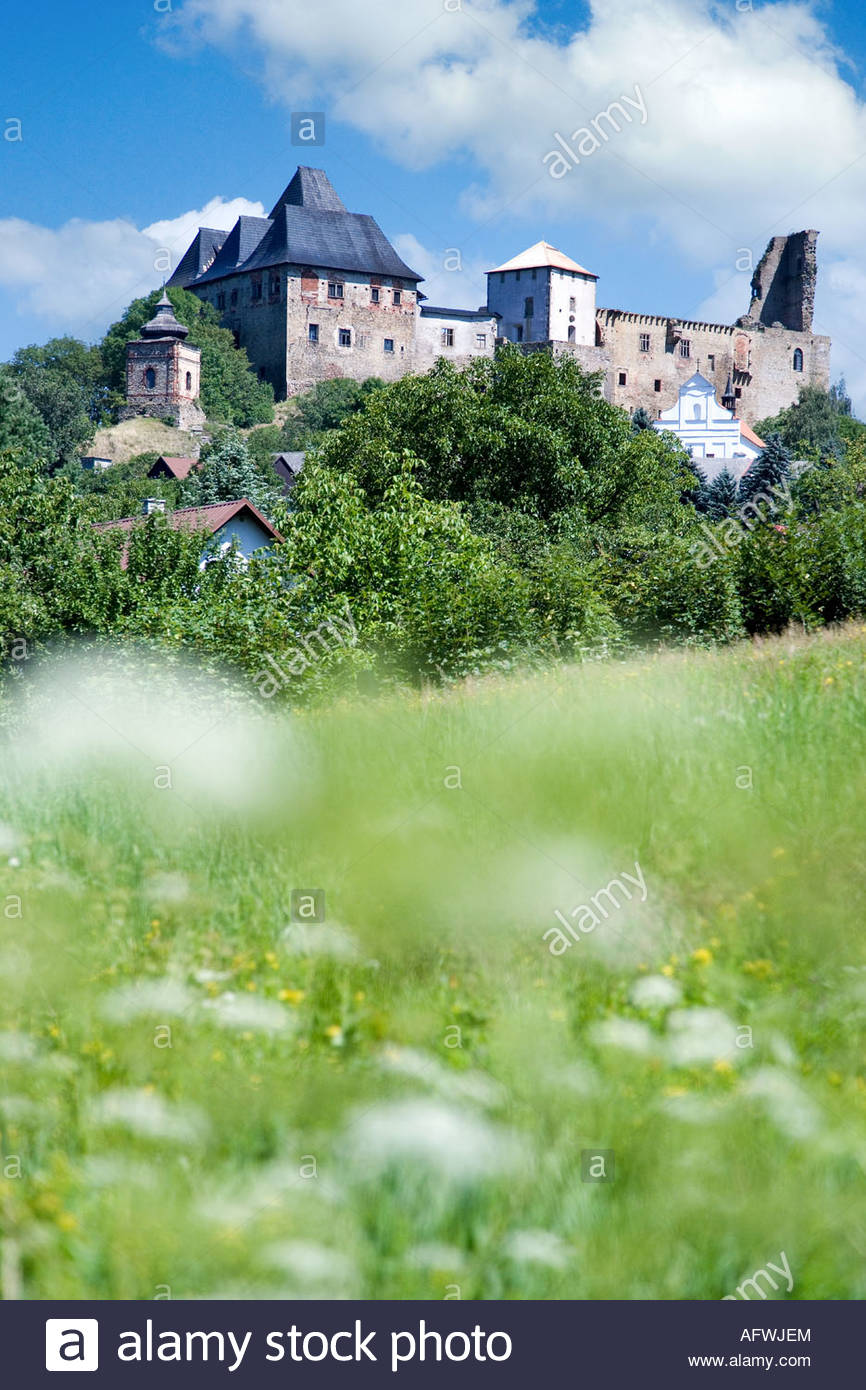 goticky hrad z 14. stol., Lipnice nad Sazavou, Kraj Vysocina, Stock Photo