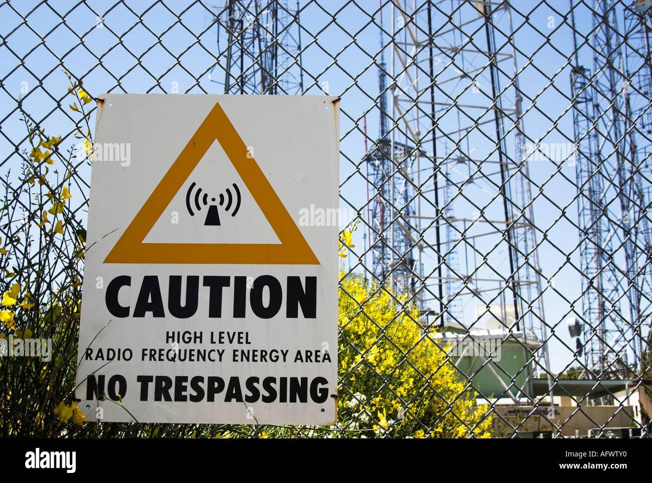 OSHA WARNING Sign High Level Radio Frequency Energy With Symbol
