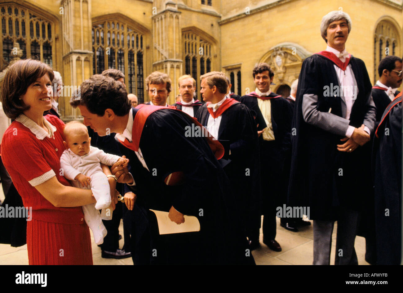 rhodes scholars oxford university graduation day ceremony HOMER SYKES - Stock Image