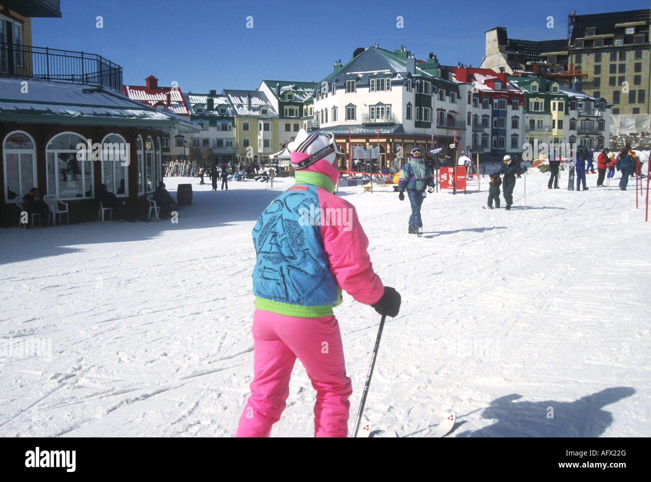 quebec's premier ski resort at mont tremblant is a lively attractive