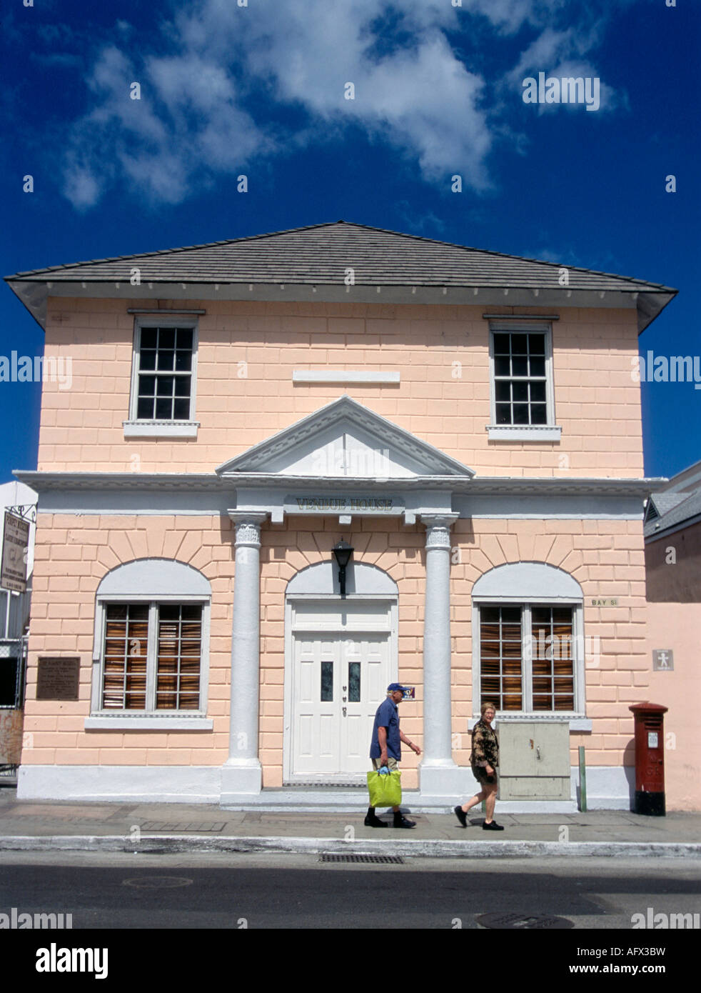 Vendue House home of the Pompey Museum in Nassau Bahamas - Stock Image