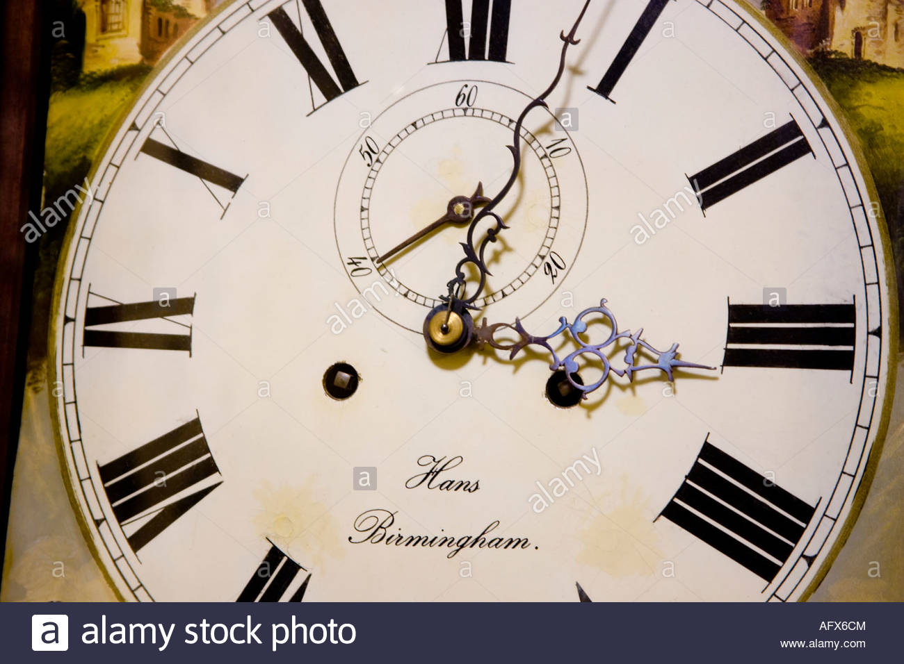 Concept old english clock face made by Hans Birmingham - Stock Image