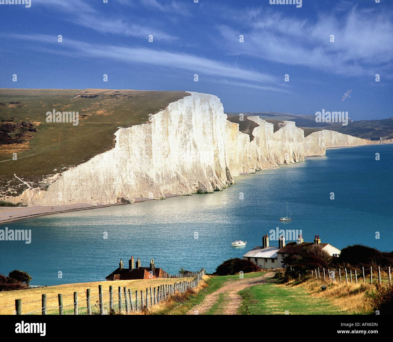 GB - SUSSEX:  Seven Sisters Cliffs - Stock Image