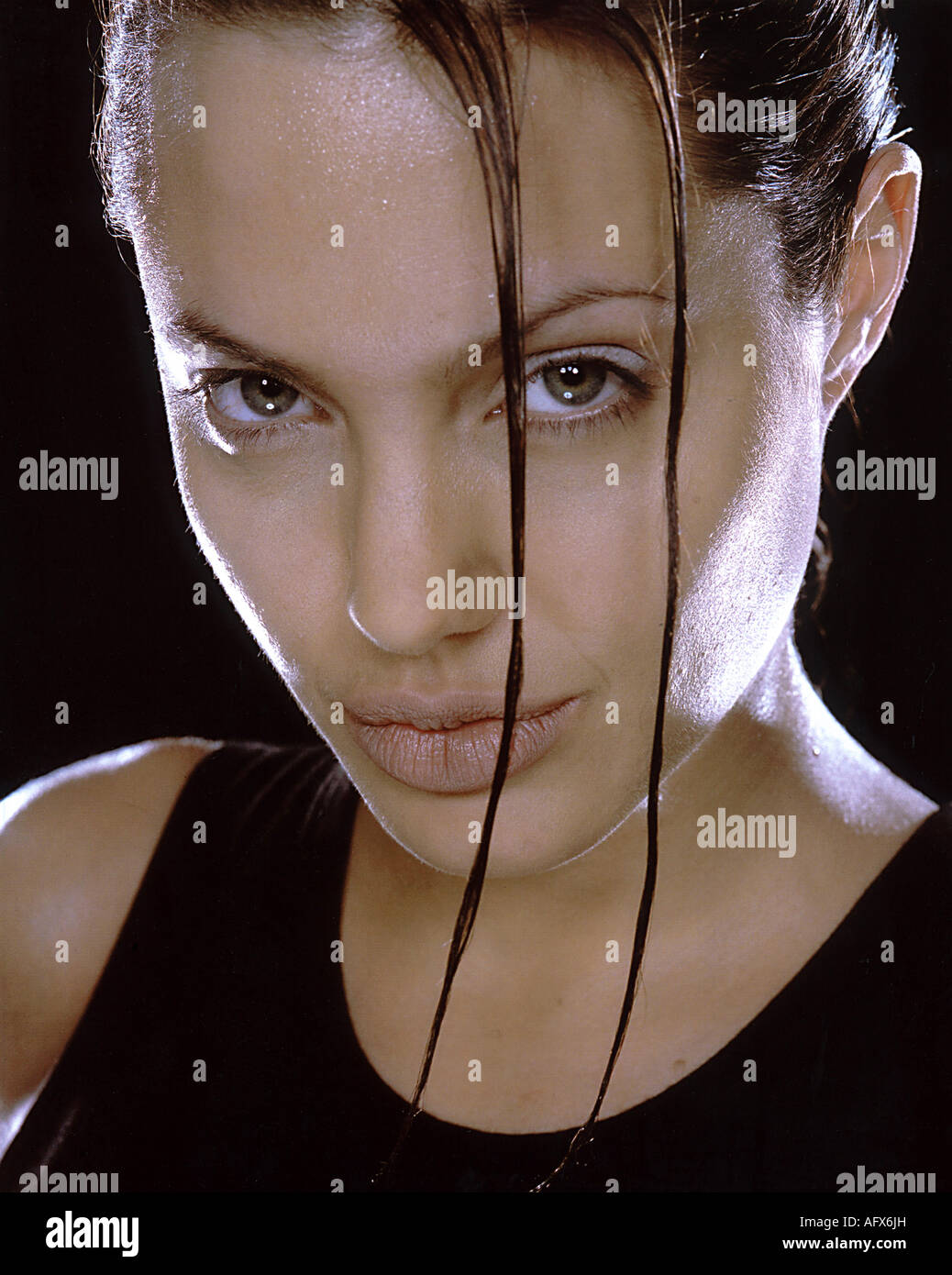 LARA CROFT TOMB RAIDER  2001 Paramount film with Angelina Jolie - Stock Image