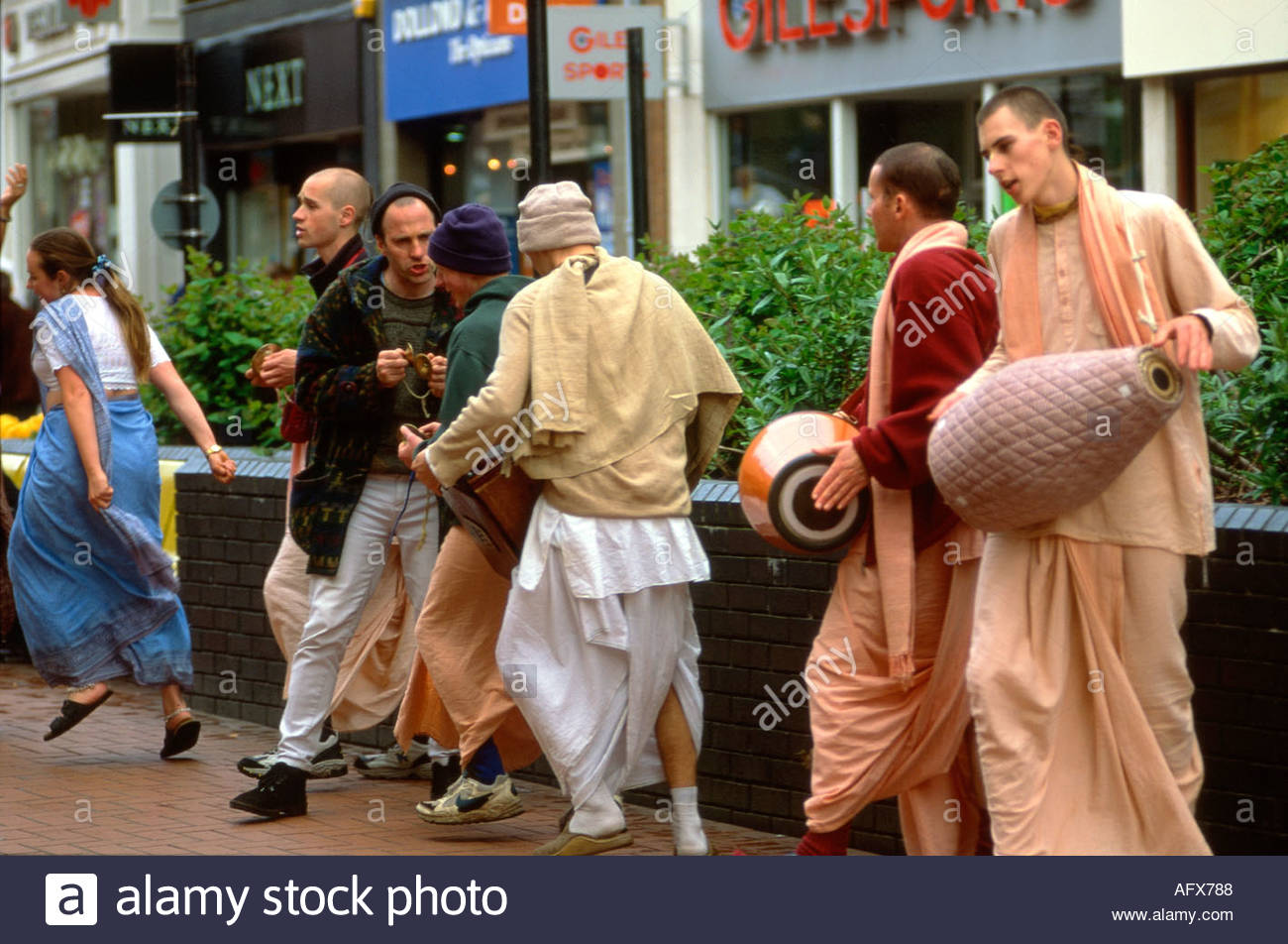 Hari Krishna Walsall West Midlands UK - Stock Image